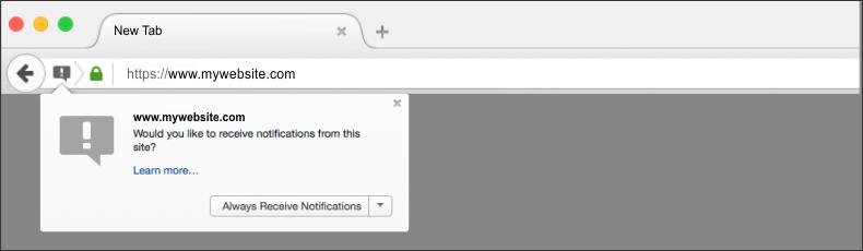firefox push notification